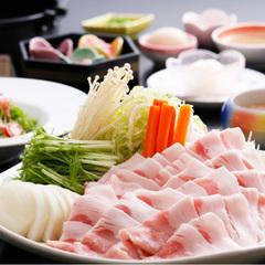 飲める温泉♪お肉の旨味がたっぷり&極上雑炊!石川産豚温泉しゃぶしゃぶ『食べ放題』&無料貸切露天♪