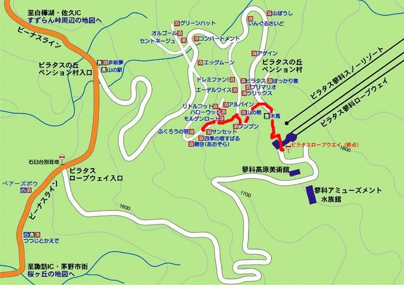 アクセス地図(徒歩の場合)