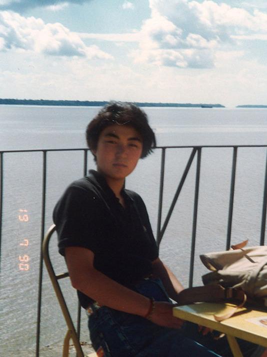 アマゾン川で