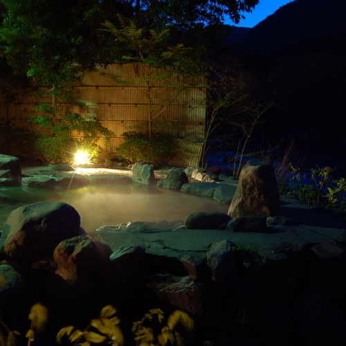 Private outdoor bath (hot spring) Plan