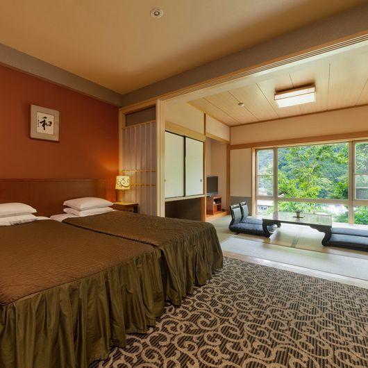套房準西洋式間帶檜木浴池