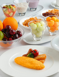 ヒルトン自慢の朝食