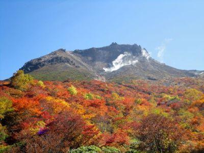 姥ヶ平から臨む茶臼岳