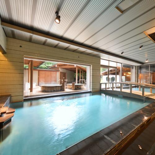 ちょっと贅沢に【気ままで自由な一人旅】湯量た〜っつぷり3つの大浴場&16趣湯巡りでのんびり至福の時間