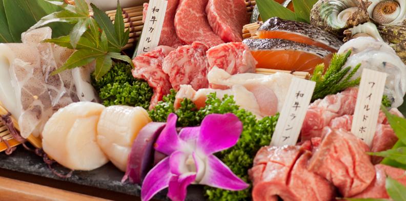 和牛セレクション&ブランド肉食べ放題>