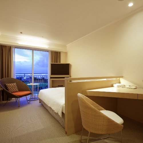 Main Building Standard Ocean View Semi-Double Room with Balcony
