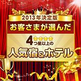 2013年人気の宿受賞