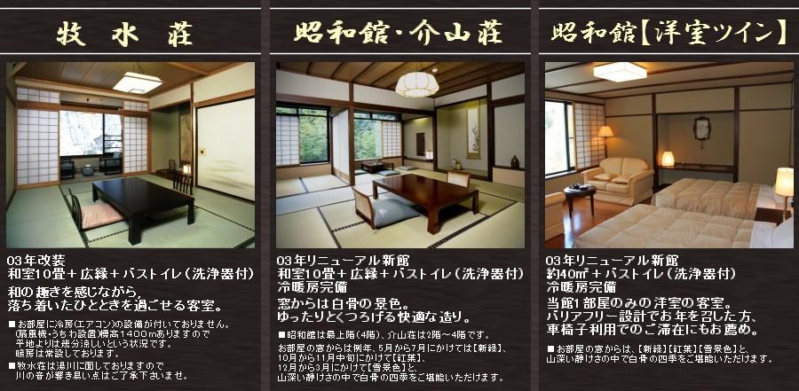 牧水荘・昭和館・介山荘・洋室ツイン