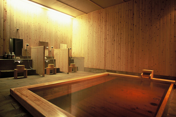 秋田檜を使った檜風呂
