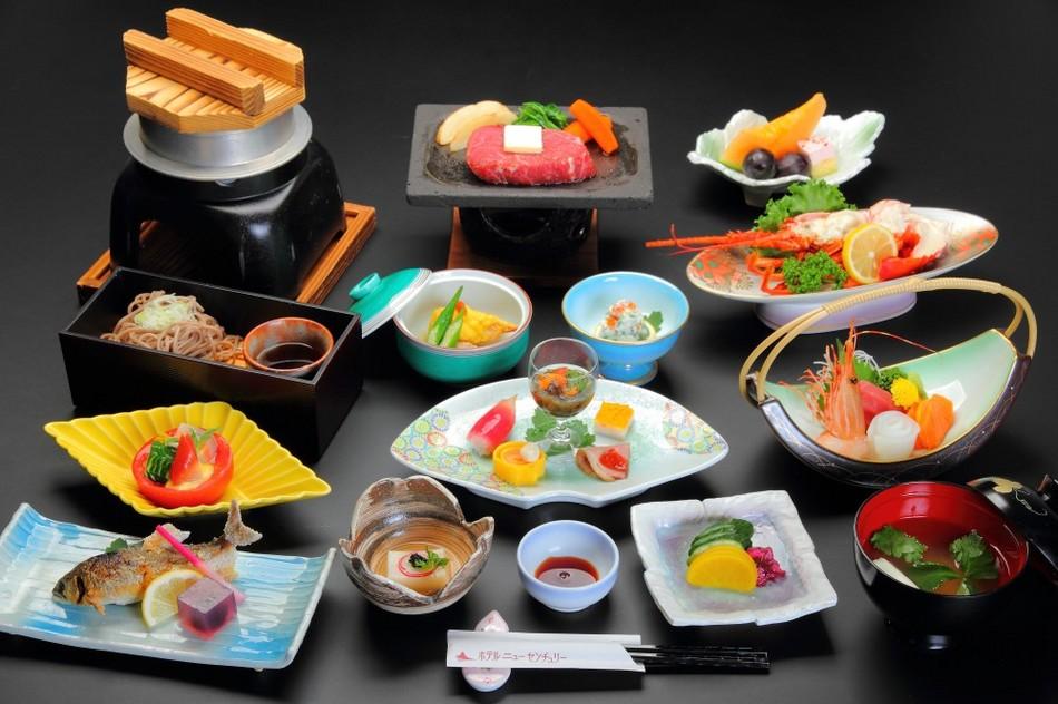 Japanese course dinner + Lobster plan