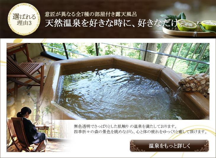 人気の理由3:温泉