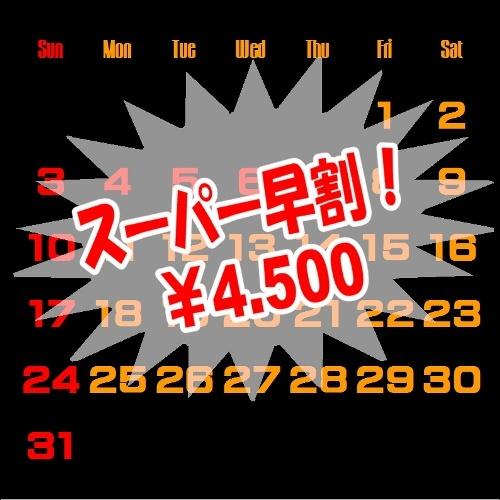 スーパー早割りプラン (1日限定5室) 【早期得割】【さき楽】