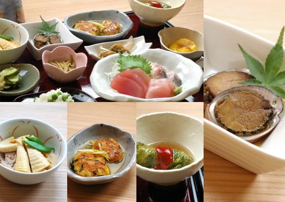 田舎料理一品サービスプラン 旬の食材を使った古座川の味