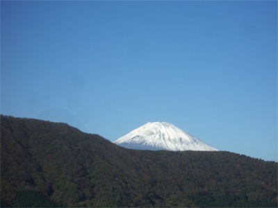 客室からの眺望・富士山(初冬)