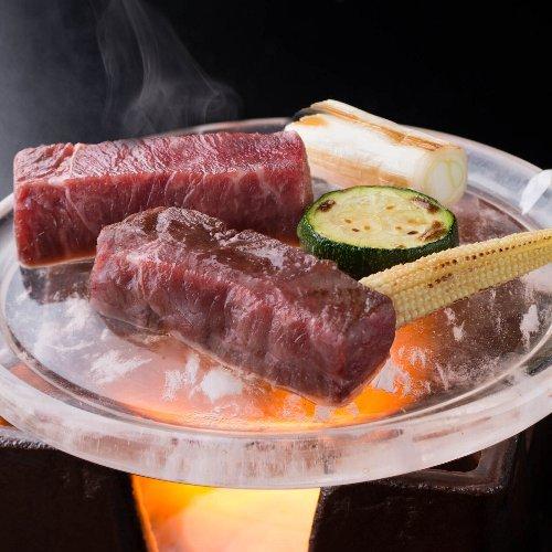 ■A5木曽牛ヒレ肉☆特選コース■話題の≪水晶プレート焼≫