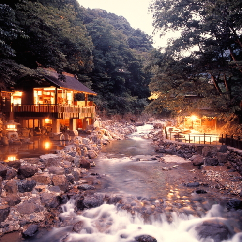 ONSEN(Hot Spring)!DINNER IN JAPANESE BANQUET HALL
