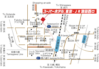 スーパーホテル東京・JR蒲田西口地図