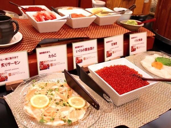 朝食 海鮮丼