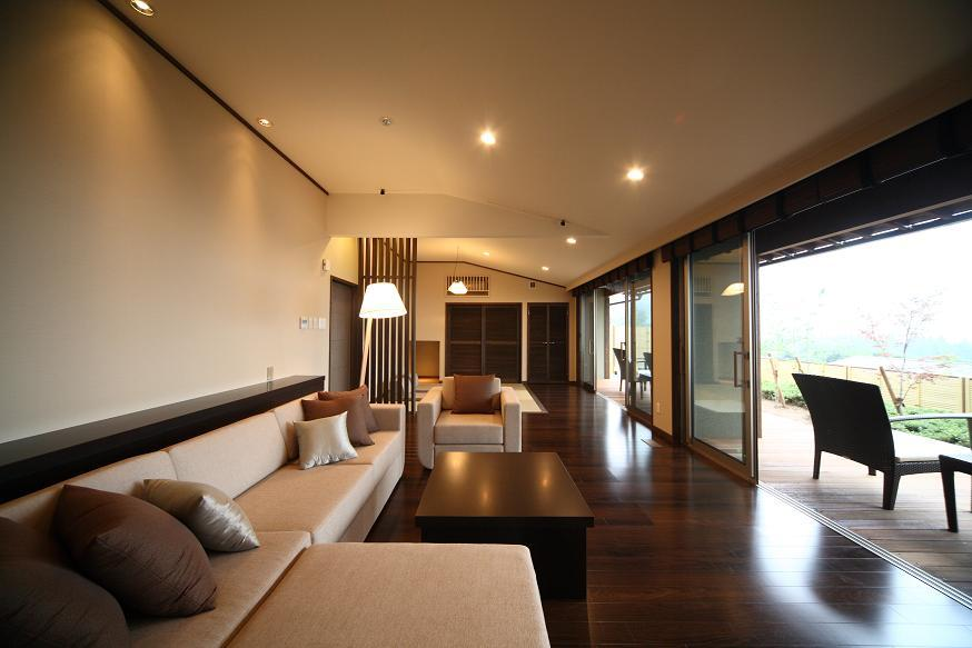 Villa Executive Twin Room with Private Open-Air Bath