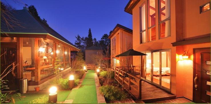 客室は温かみのある空間が広がる、離れ形式全5室
