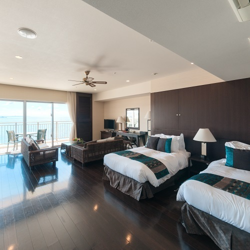 Main Building SUITE Ocean View Quad Room with Balcony