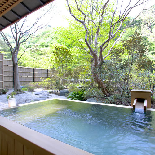 Special room with open air bath