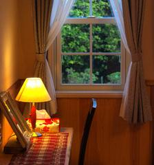 ピンクヒッポ夕暮れの窓辺