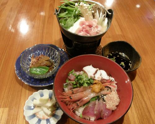 復活!海鮮丼&小鍋、一泊2食付き7500円!期間限定!リーズナブル、現金決済特典プラン