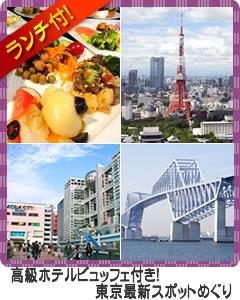 高級ホテルビュッフェ付き!東京最新スポットめぐり