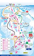 ハチ北スキー場のイメージマップ