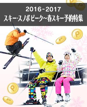 スキー・スノボピーク~春スキー宿泊予約
