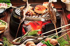 上牧温泉 人気の貸切風呂と炭火山里料理の宿 辰巳館の絶景