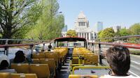 屋根なし2階建てバスで東京観光