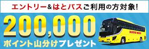 はとバス 200,000ポイント山分けキャンペーン
