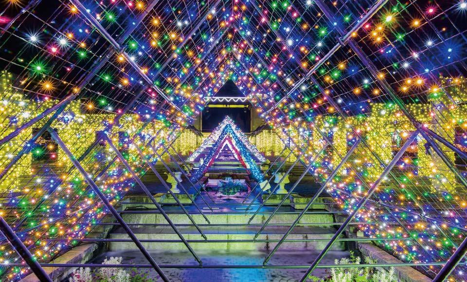 ロックハート城とぐんまフラワーパークイルミ「妖精たちの楽園」
