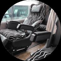快適シート・充実の車内設備