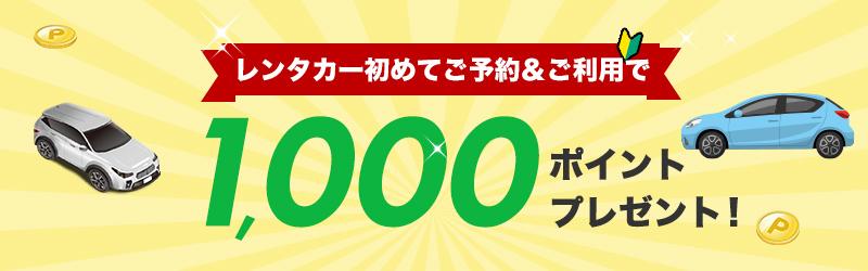 初めて利用で1,000ポイントプレゼントキャンペーン