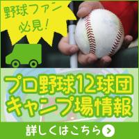 野球ファン必見!プロ野球12球団、キャンプ場情報