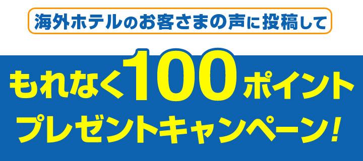 お客さまの声に投稿してもれなく100ポイントプレゼントキャンペーン!