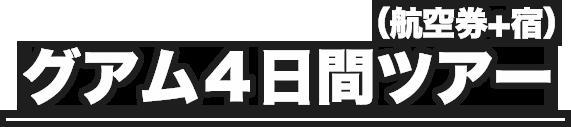 (航空券+宿)グアム4日間ツアー