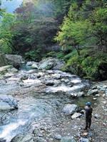日原渓流釣場・写真