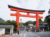 箱根神社の第一鳥居・写真