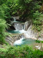 七ツ釜五段の滝・写真