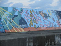 防波堤 壁画・写真