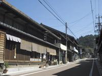 岩村城下の町並み・写真