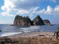 堂ヶ島のトンボロ(瀬浜海岸)・写真