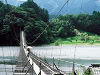 塩郷の吊橋・写真
