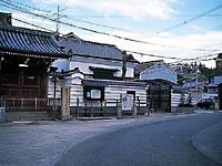 浄念寺前の桝形道路・写真