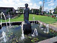 本陣前公園(姫の銅像)