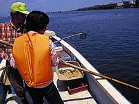 瀬田しじみ漁体験・写真